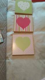 SET OF 3 HEART BOX PICTURES