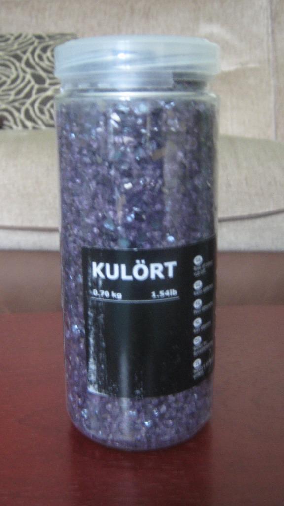 Ikea Decorative Crushed Glass Purple X 7 Ideal Wedding