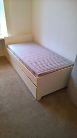 Day bed with pull out bed drawer with 2 mattresses