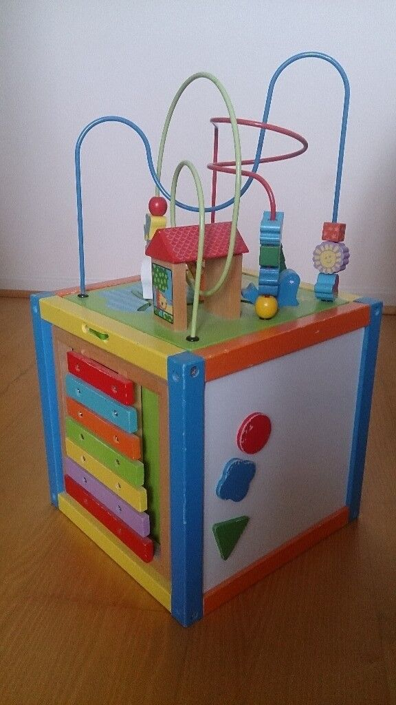Kids wooden activity cubein Abingdon, Oxfordshire - Kids wooden activity cube 5 in 1 wooden activity toy. Including some wooden blocks. Very good used condition. Collection from Abingdon