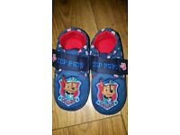 New with tags paw patrol slippers size7