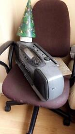 Chair, Phillips cassette player etc