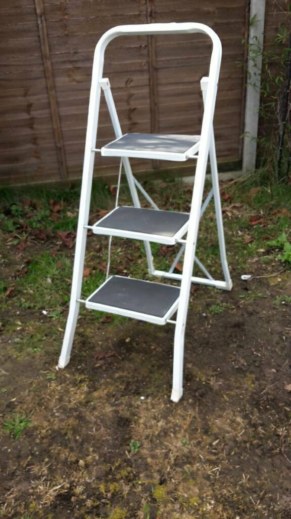 Groovy White Step Ladder Compact Ladder Steps In Norwich Norfolk Gumtree Gmtry Best Dining Table And Chair Ideas Images Gmtryco