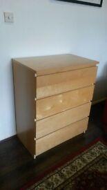 Quality 4-Drawer Beech Dresser