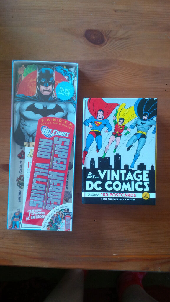 DC Comics Postcards and DC Fandexin StirlingGumtree - The Art of Vintage DC Comics 100 Postcards 75th anniversary collection and DC Comics Super Heroes and Villains Fandex family field guides. Both in excellent condition