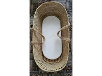 Moses basket with mattress