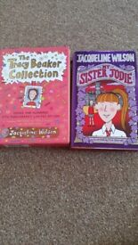 Jaqueline Wilson books My sister Jodie and The Tracy Beaker collection hardback books