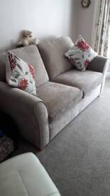 Two seater sofa bed and chair from sterling