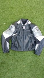 Arlen Ness leather M/cycle jacket.