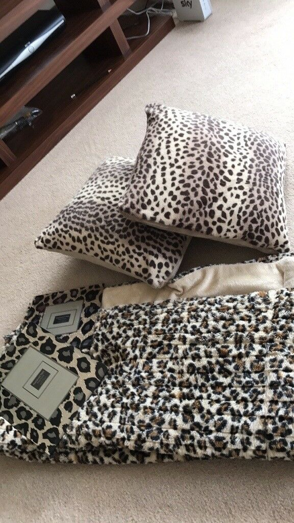 Leopard Print cushions, Throw and photo frames