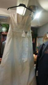 PALOMO BlANCA 100% PURE SILK WEDDING DRESS