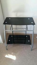 Black glass PC stand