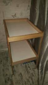 Ikea changing table and baby bath