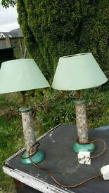 A pair of Jersey pottery table lamps