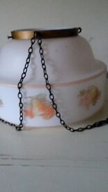 Vintage Kitchen Dining Glass Lamp Shade Floral