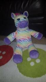 Rainbow zebra build a bear