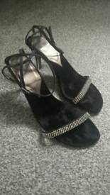 Clarks size 6 diamonte high heeled evening shoes