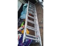 alluminium ladder .3 sections .£100 ovno