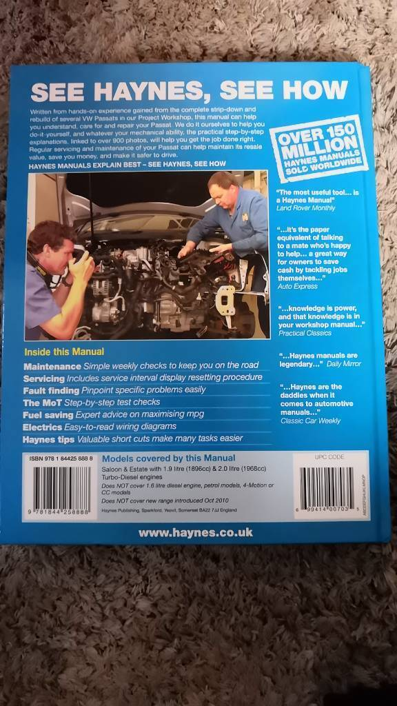 Haynes VW Passat manual | in Plymouth, Devon | Gumtree