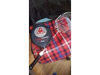 Let coq sporting badminton racket