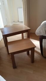 nest of 2 tables £15 SOLD subject to collection
