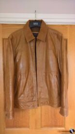 NEXT Men's Tan Leather Jacket - Vintage, used once, hard leather , size medium