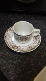 Tea cups and saucers The Duraline hotel ware co Ltd. Super verified made in England
