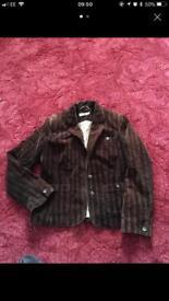 Ladies Corduroy Jacket Brown Size 12