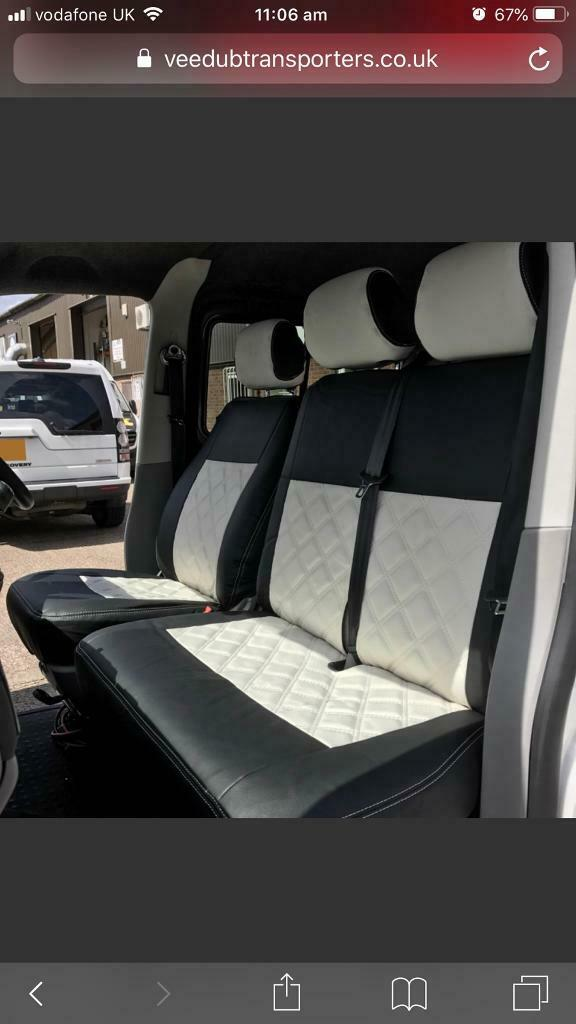 Marvelous Vw T5 Faux Leather Fitted Seat Covers Purchased From Veedubtransporters In Hindhead Surrey Gumtree Pdpeps Interior Chair Design Pdpepsorg