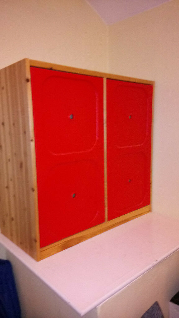 Ikea Trofast Cupboard With Shelving And Red Doors In Woodley Berkshire Gumtree