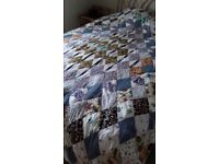 Single and Double Handmade Patchwork Quilts