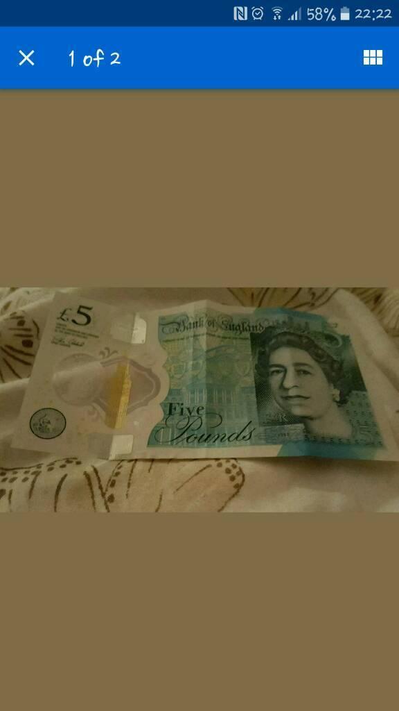 5 pound note Aj42
