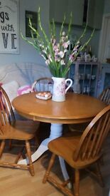 Dining Room Table & 4 Chairs - Pine - Kitchen