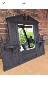 DELIVERY £25 max most uk Victorian cast iron mirror