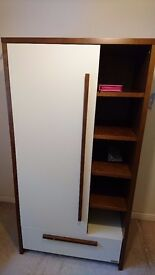 izzie wotnot Wardrobes cupboard cream and wallnut colour excellent condition