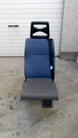 Folding van seats and wheel chair ramp