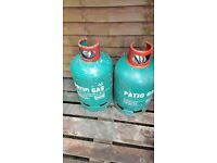 2 x Patio Calor gas cylinders (empty)