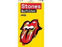 2 x Rolling Stones Standing Tickets