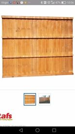4 fence panels, 4 ft high by 6 ft width.