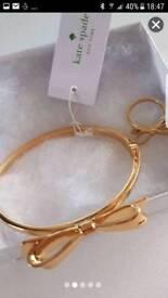 Kate spade bracelet and ring