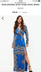 Brand new with tags blue dress size 16