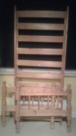 Single pine bed £40 ono