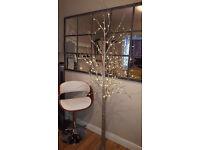 6ft silver glitter christmas tree