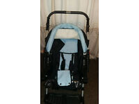 Kaps 3 Flash 2-in-1 Pram/ Pushchair + carry cot &rain foil+ accessories Free delivery available