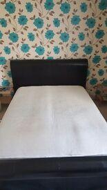 King size mattress & bedframe if wanted