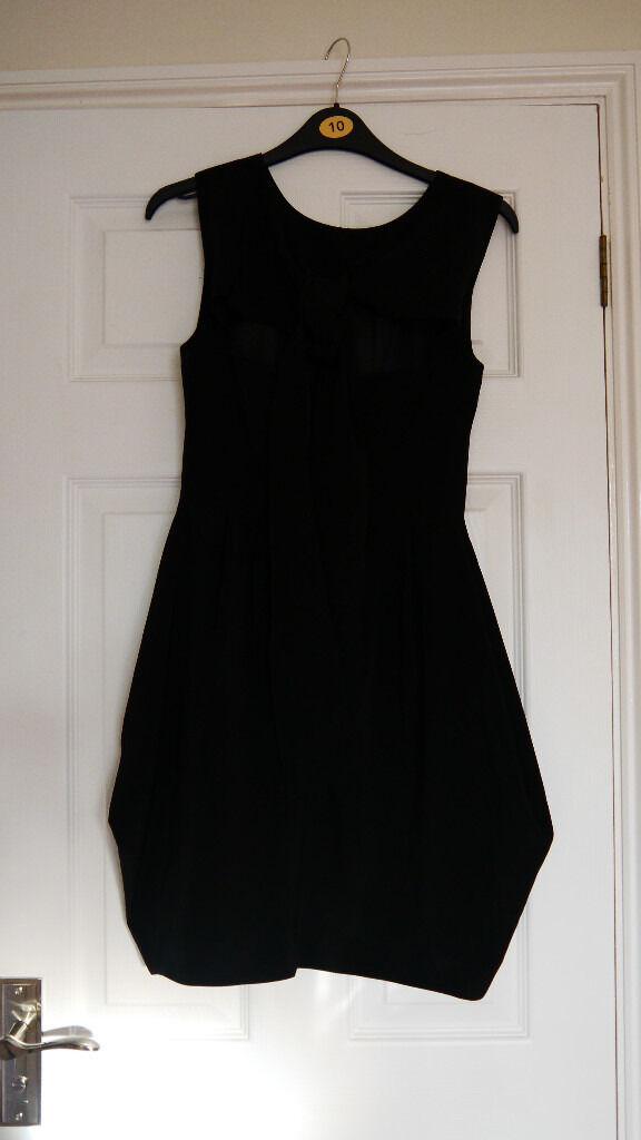 LADIES LITTLE BLACK DRESS. SIZE 8, FROM ASOS. LINED. SLEEVELESS,SCOOP NECK. LOVELY BACK DETAIL.