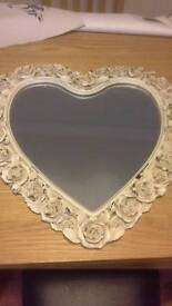 "Heart and roses mirror 21 "" x 21 "" New with tags"