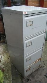 Vintage Grey Metal Filing Cabinet.Used.For Refurb.