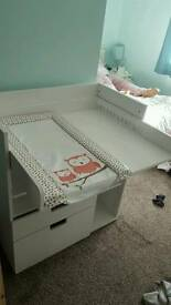 Ikea baby change unit