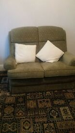 two seater sofa plus two single chairs